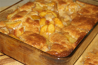 sunday peach cobbler